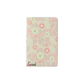 Pastel Autumn Flowers Pocket Notebook- Light Grey Pocket Moleskine Notebook