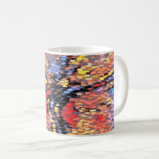 Pastel Autumn Leaves Coffee Mug