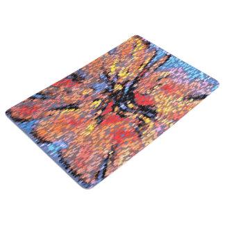 Pastel Autumn Leaves Pattern Floor Mat