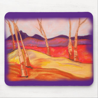 Pastel Autumn Woods mouse pad, Mouse Pad