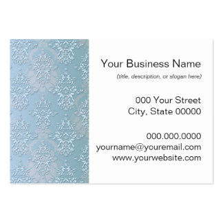 Pastel Baby Blue Damask Pack Of Chubby Business Cards