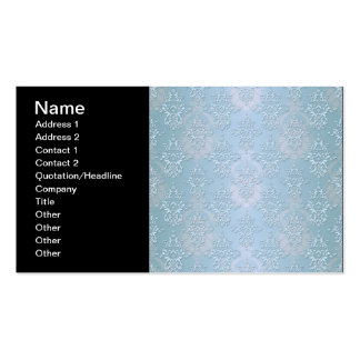 Pastel Baby Blue Damask Pack Of Standard Business Cards