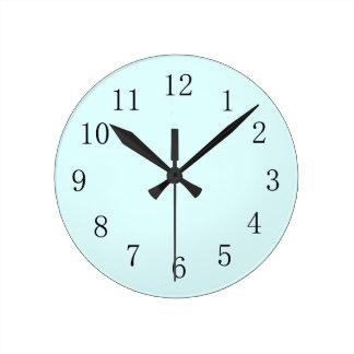 Pastel Baby Blue Kitchen Wall Clock