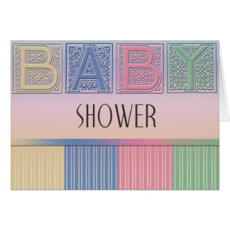 Pastel Baby Shower Greeting Card