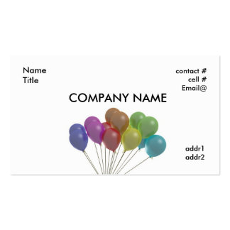 pastel balloons fan business card template