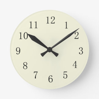 Pastel Beige Kitchen Wall Clock