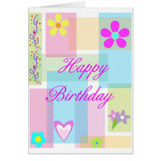 Pastel Block Birthday Card