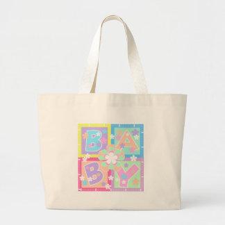 Pastel Blocks Baby Jumbo Tote Bag