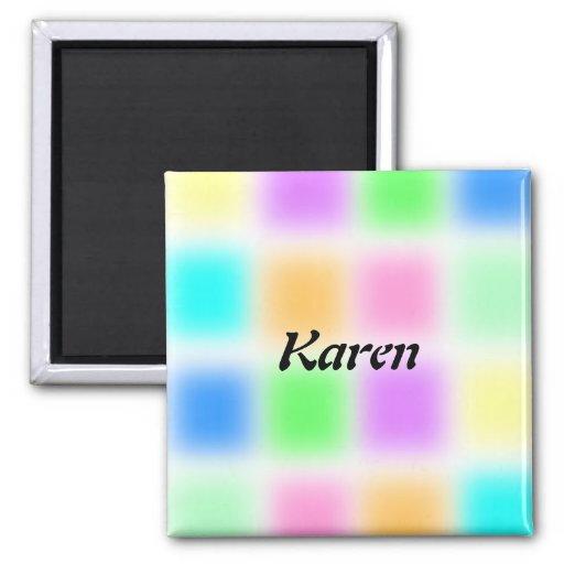 Pastel blocks magnet