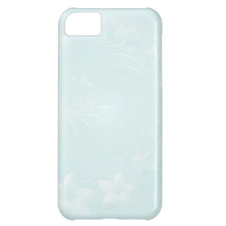 Pastel Blue Abstract Flowers iPhone 5C Case