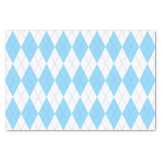 Pastel Blue and White Argyle Pattern Tissue Paper