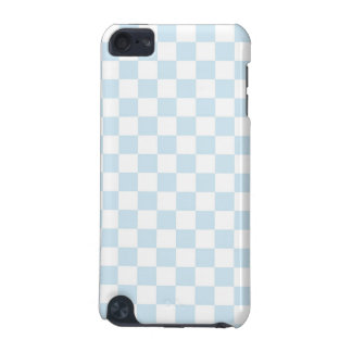 Pastel Blue and White Checkerboard iPod Touch 5G Cover
