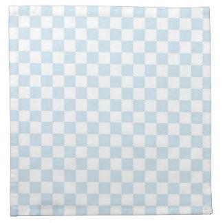 Pastel Blue and White Checkerboard Napkin