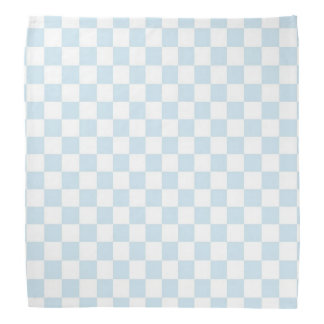 Pastel Blue and White Chequerboard Kerchiefs