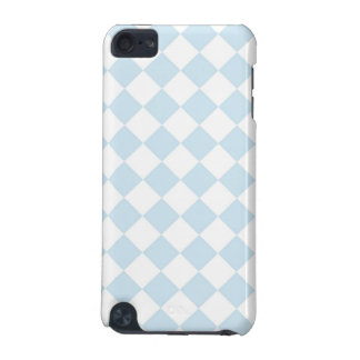 Pastel Blue and White Diamond Checkered Pattern iPod Touch 5G Cases