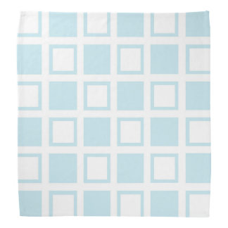 Pastel Blue and White Squares Bandana