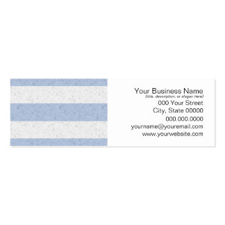 Pastel Blue and White Stripes Pack Of Skinny Business Cards