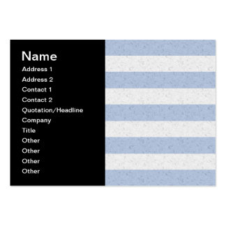 Pastel Blue and White Stripes Business Cards