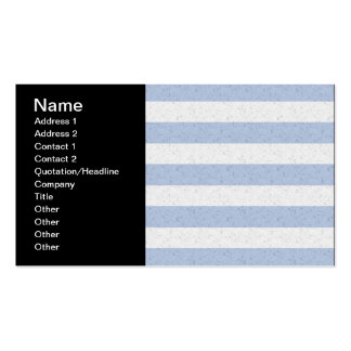 Pastel Blue and White Stripes Pack Of Standard Business Cards