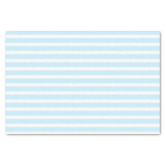Pastel Blue and White Stripes Tissue Paper