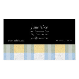 Pastel Blue and Yellow Plaid Pattern Pack Of Standard Business Cards