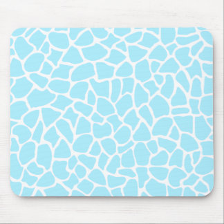 Pastel Blue Animal Print Giraffe Pattern Mousepad