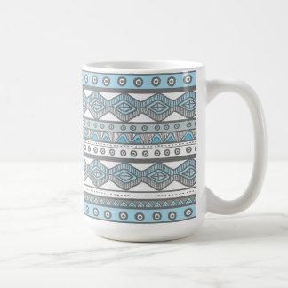 Pastel Blue Aztec Stylish Modern Trendy Coffee Mug