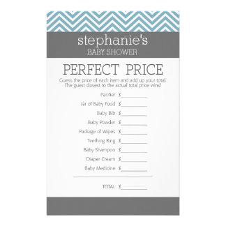 Pastel Blue Baby Shower Game - Perfect Price Customized Stationery