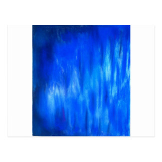 Pastel Blue Blaze (abstract expressionism) Postcard