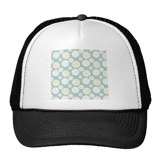 Pastel Blue Circle Star Pattern Gifts for Her Hats