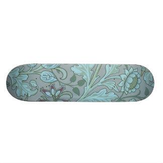 Pastel Blue Decorative Flowers 20 Cm Skateboard Deck