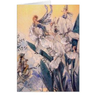 Pastel Blue Fairies, Card