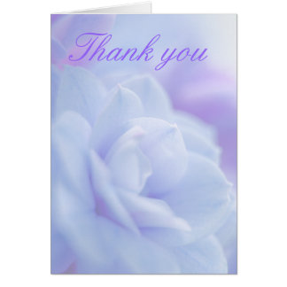 Pastel blue flower Thank you card