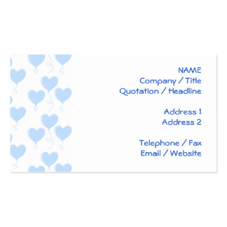Pastel Blue Heart Balloon Pattern. Pack Of Standard Business Cards