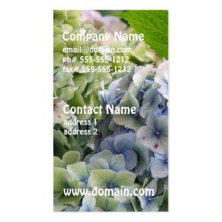 Pastel Blue Hydrangeas Business Card