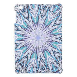 Pastel Blue Lavender White Snowflake Mandala Cover For The iPad Mini