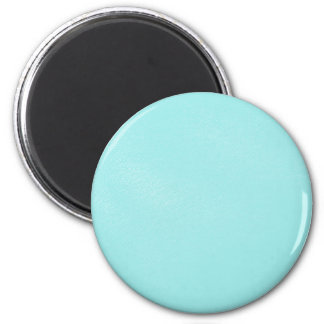 Pastel Blue Leather Look 6 Cm Round Magnet