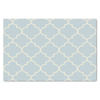 Pastel Blue Moroccan Lattice Pattern Tissue Paper