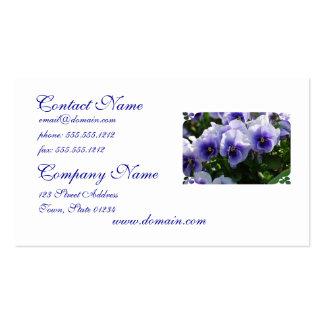 Pastel Blue Pansies Business Card
