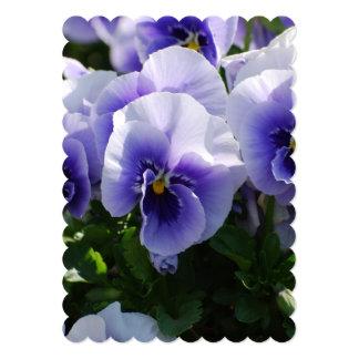 "Pastel Blue Pansies 5"" X 7"" Invitation Card"