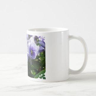 Pastel Blue Pansies Mug