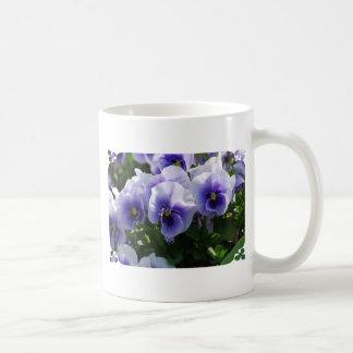 Pastel Blue Pansies Mugs
