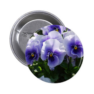 Pastel Blue Pansies Pin