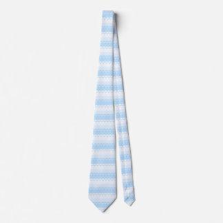 Pastel Blue Pattern Tie