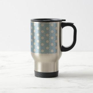 Pastel Blue Polka Dot Pattern Mugs