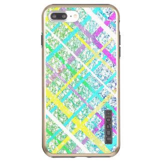 Pastel Blue Pop Art Paper Crossed Line Mixed Media Incipio DualPro Shine iPhone 8 Plus/7 Plus Case