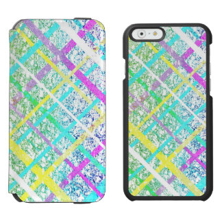 Pastel Blue Pop Art Paper Crossed Line Mixed Media Incipio Watson™ iPhone 6 Wallet Case