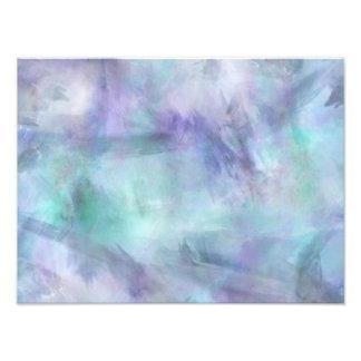 Pastel Blue Purple Watercolor Background Photo Print