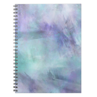 Pastel Blue Purple Watercolor Background Spiral Notebook