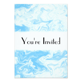 Pastel Blue Random Design. 13 Cm X 18 Cm Invitation Card